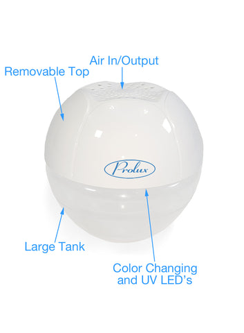 Oil Diffusing Water Based Air Purifier/Humidifier by Prolux