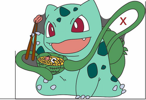 Bulbasaur Eating Ramen