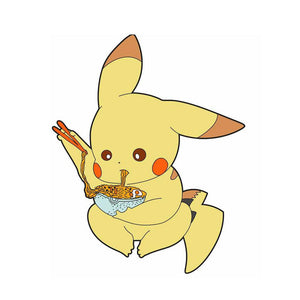 Pikachu Eating Ramen