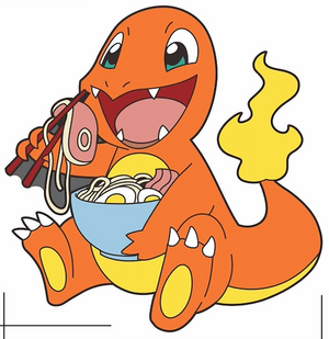 Charmander Eating Ramen
