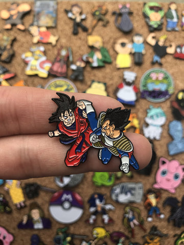 Goku Vs. Vegeta - PinPatchInc