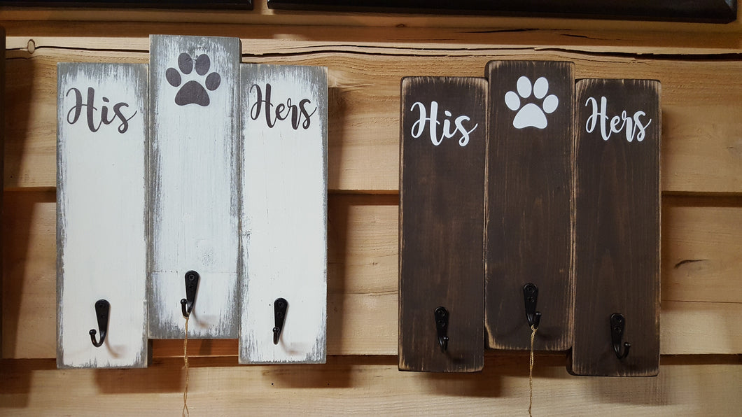 His/Hers/Dog Key/Leash Holder Sign