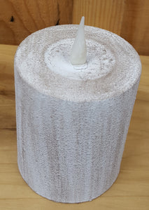 "Flameless 4"" Clay Pillar Candle"