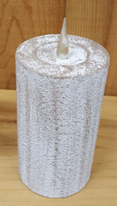 "Flameless 6"" Clay Pillar Candle"
