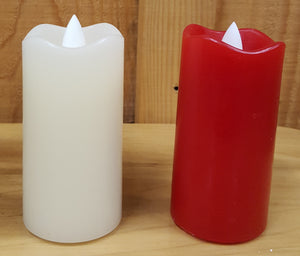 "Flameless 4"" Slim Pillar Candle"
