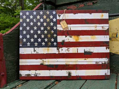 American Flag Wooden Pallet Sign