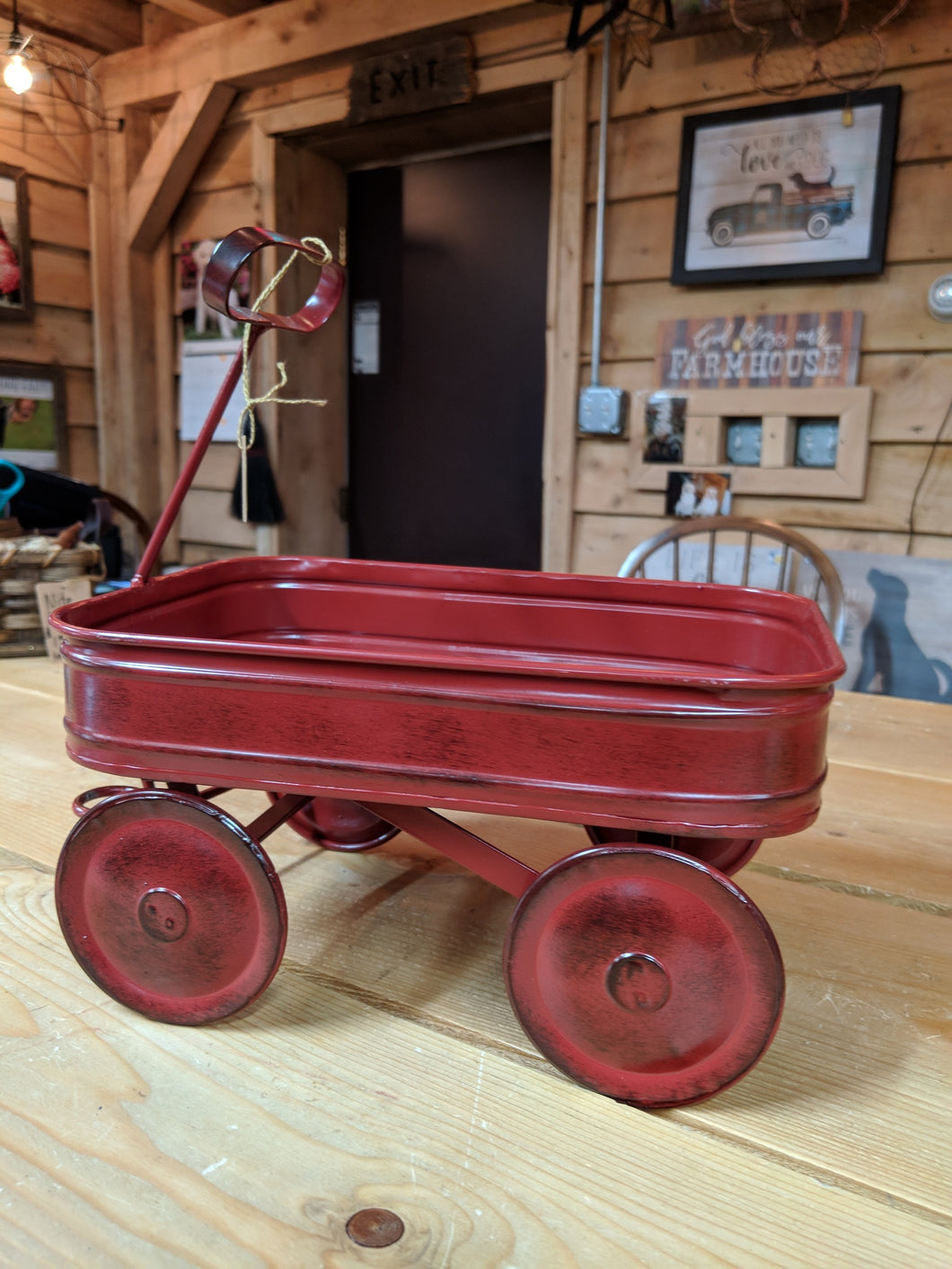 Little Red Metal Wagon