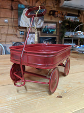 Load image into Gallery viewer, Little Red Metal Wagon