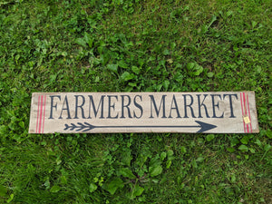 Handmade Farmer's Market Wooden Sign