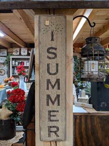 Handmade Summer Wooden Sign