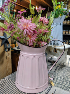 Pink Flower Pitcher