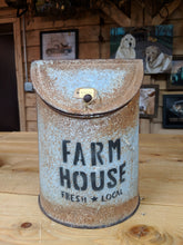 Load image into Gallery viewer, Rusty Metal Farmhouse Canister