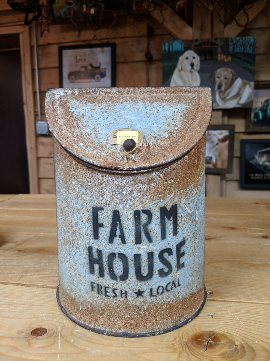 Rusty Metal Farmhouse Canister