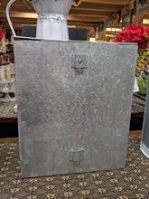 "Load image into Gallery viewer, White Metal Farmhouse Canister -12"" tall"