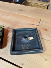Load image into Gallery viewer, Primitive Country Square Candle Holder - Antique Black