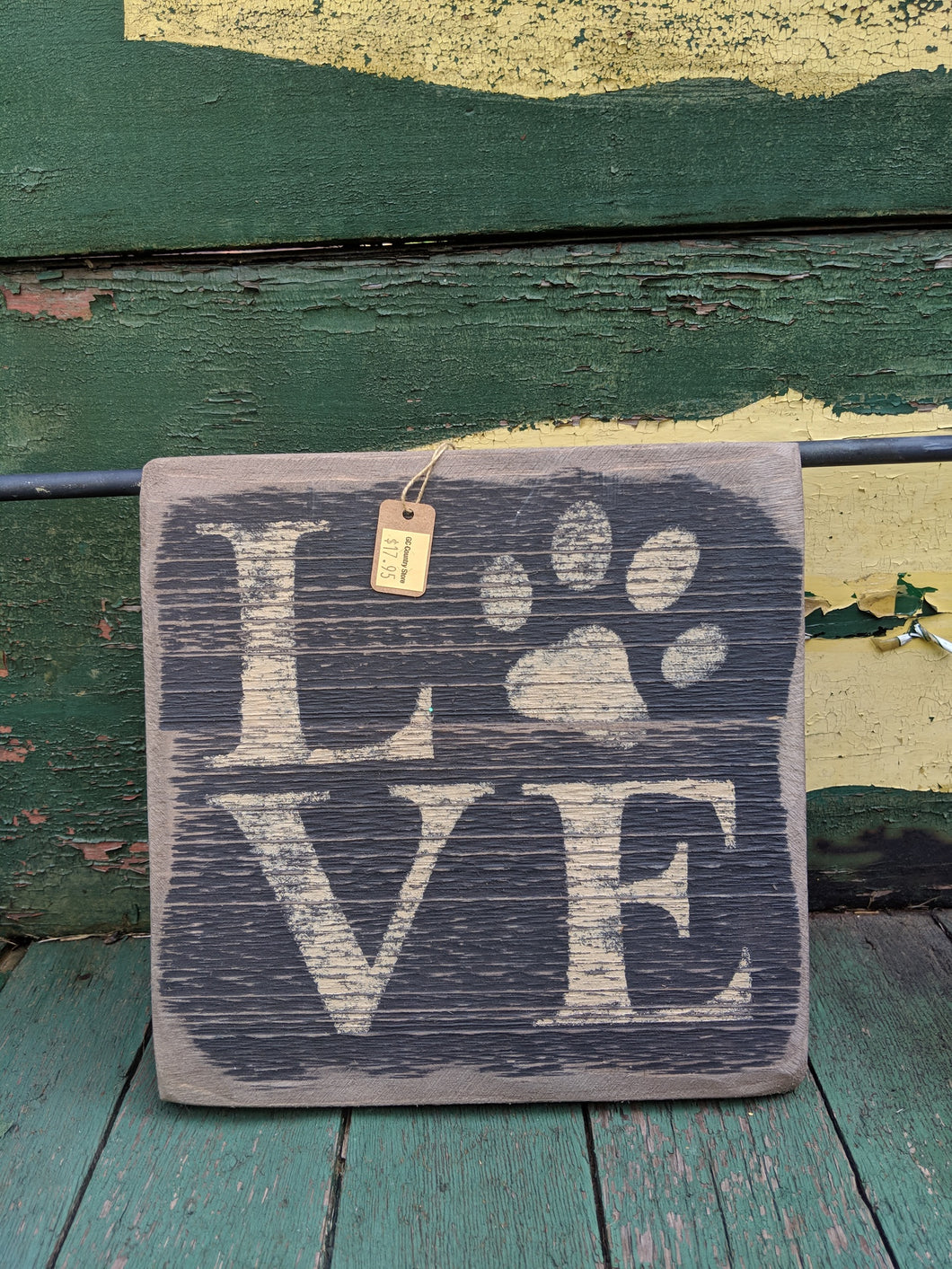 Love my Dog Handmade Wooden Sign