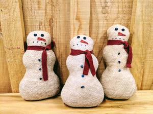 Primitive Plush Snowmen