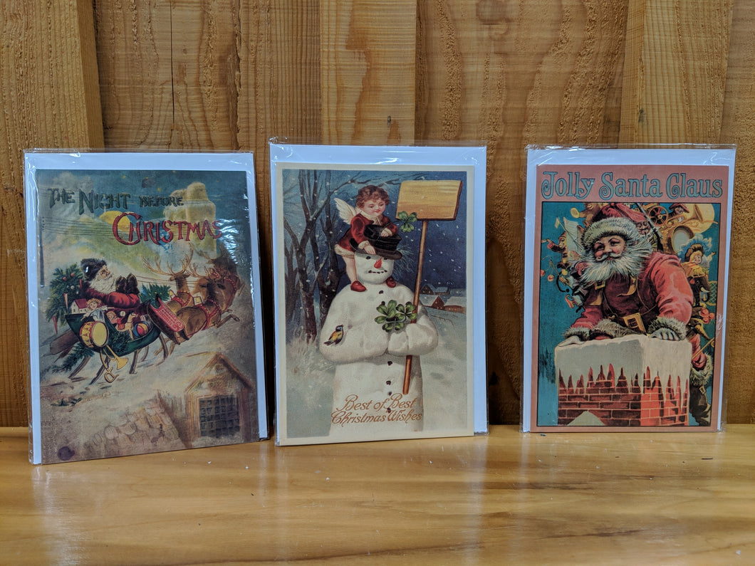Set of 15 Vintage Style Christmas Cards