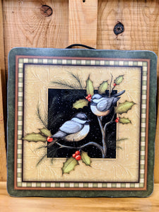 Winter Bird Plaque