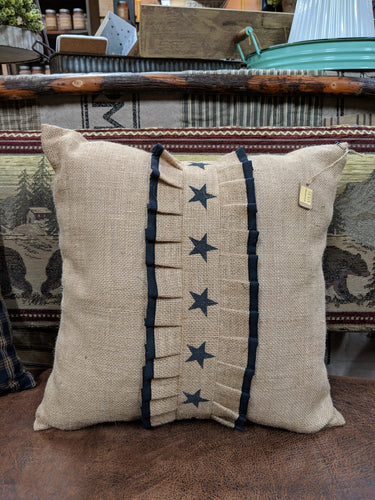 Burlap Star Pillow