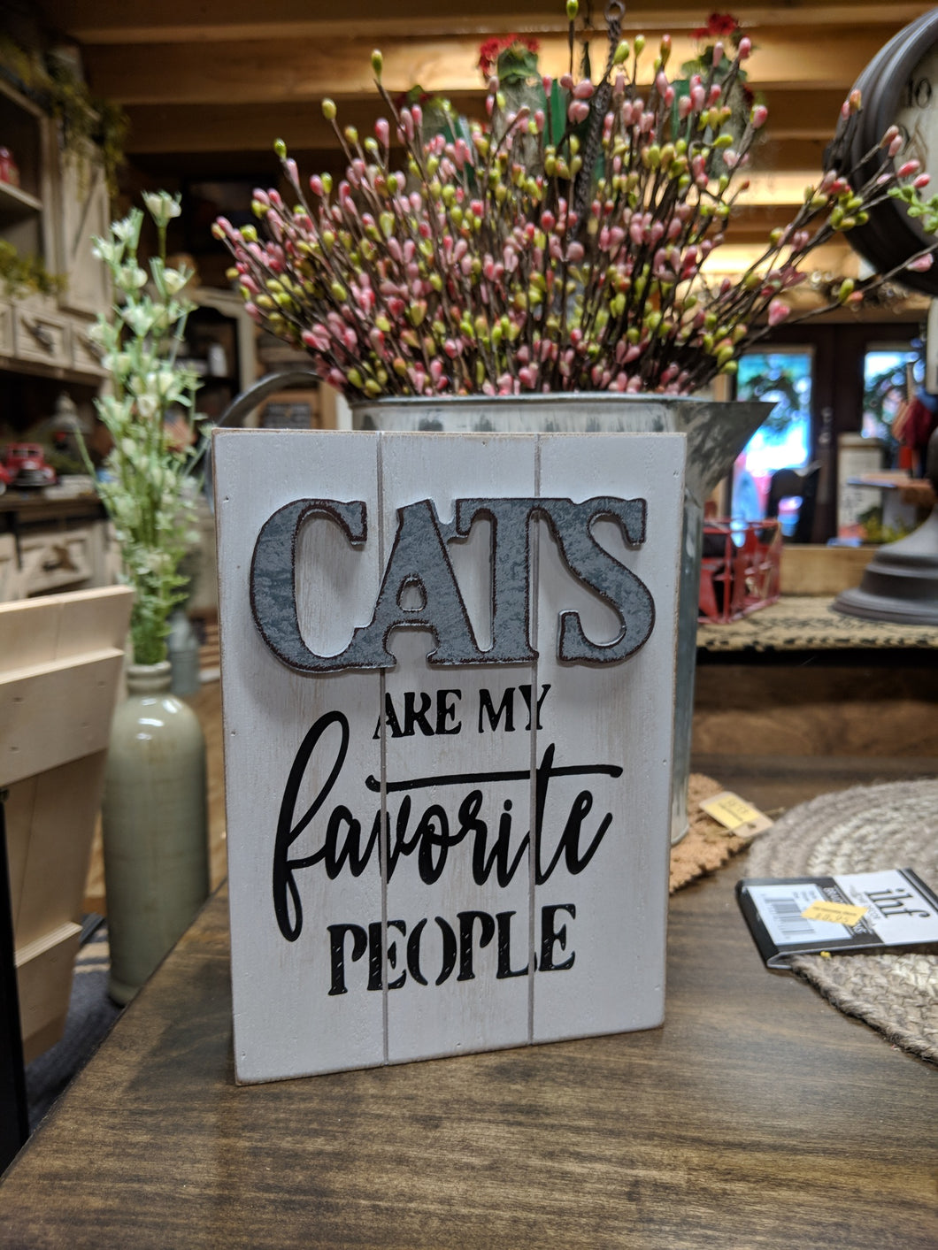 Cats are my Favorite People Box Sign