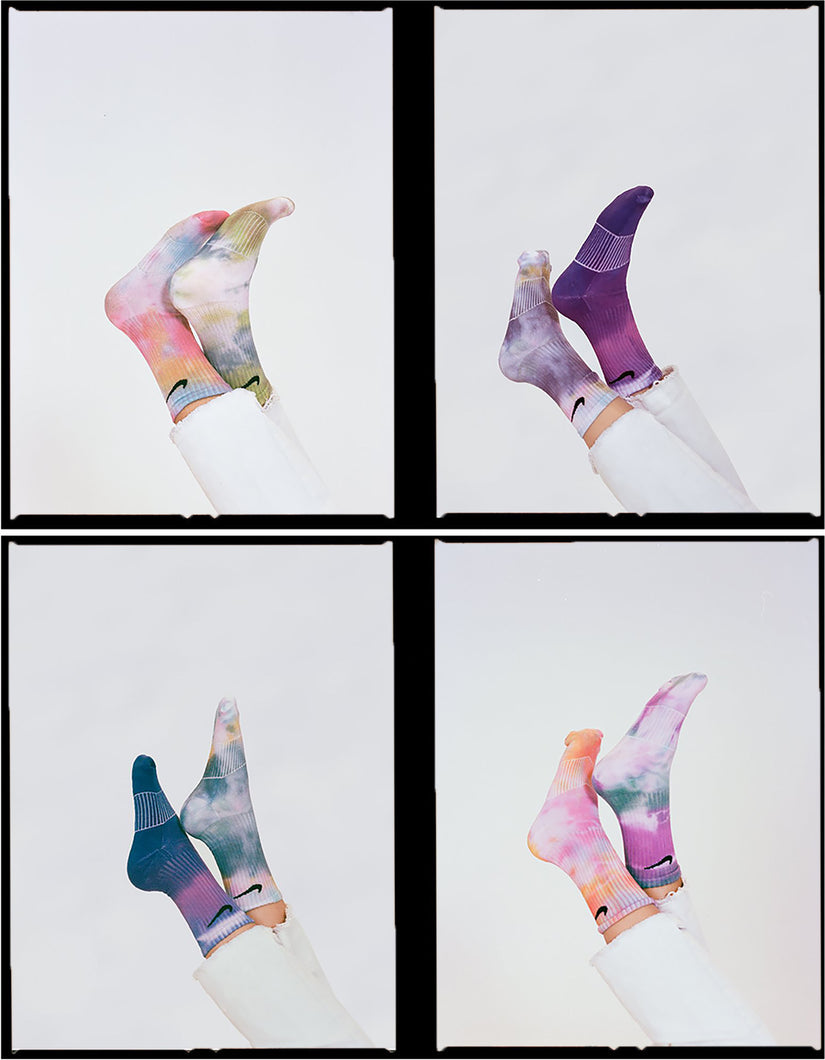 Tie Dyed Nike Performance Cushion Socks