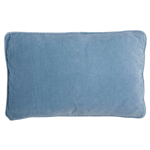 BUNGALOW VELVET PILLOW Light Blue