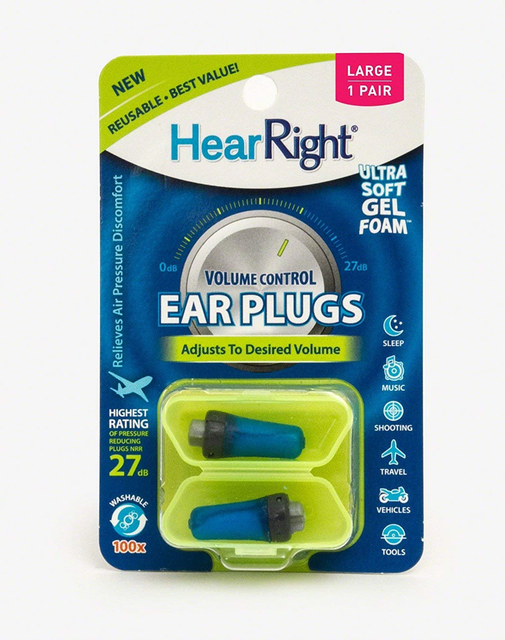 Volume Control Ear Plugs - Oordoppen