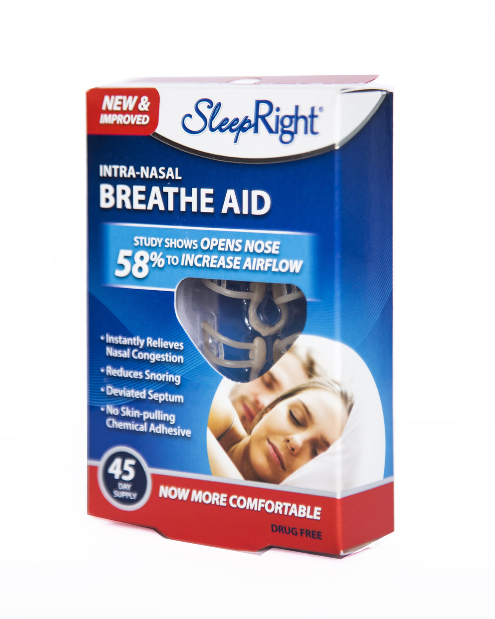 SleepRight Neusspreider Breathe Aid 3 pack - oude verpakking