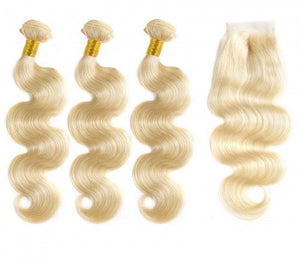613 Bundle with 4x4 Lace Closure Deal