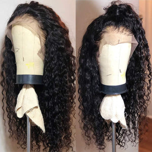 Deep Wave Bundles With  13x4 Swiss Lace Frontal