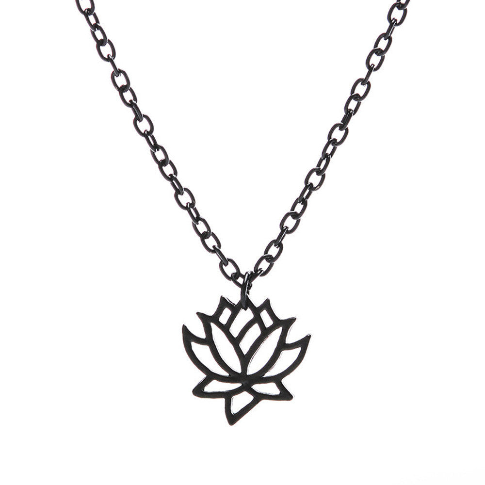 Lotus Flower Charm Necklace Grown From Mud Store