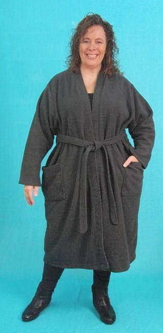 Robe Coat - fleece jacket fabrics