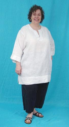 Taj Tunic Top - multiple natural fiber fabrics