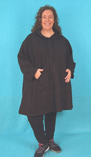 A-line Hoodie Tunics - hood and collar variations