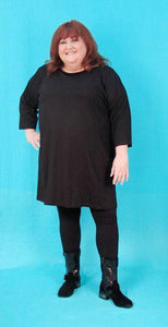 Boat Neck A-line Tunic - multiple fabrics