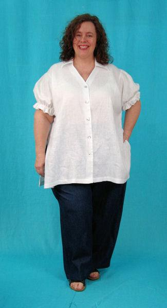Puffed Sleeve Shirt - multiple fabrics