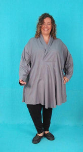 Swing Tunic with Wrap Collar - multiple fabrics