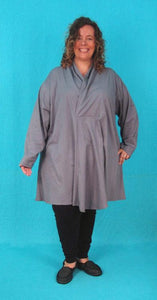 Swing Tunic with Wrap Collar - 2x photo sample - Cotton Lycra Jersey*