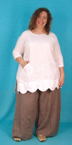 Scalloped Elli Tunic -  multiple fabrics