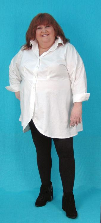 Marlene Shirt  - 4x Photo Sample - White Oxford Cotton