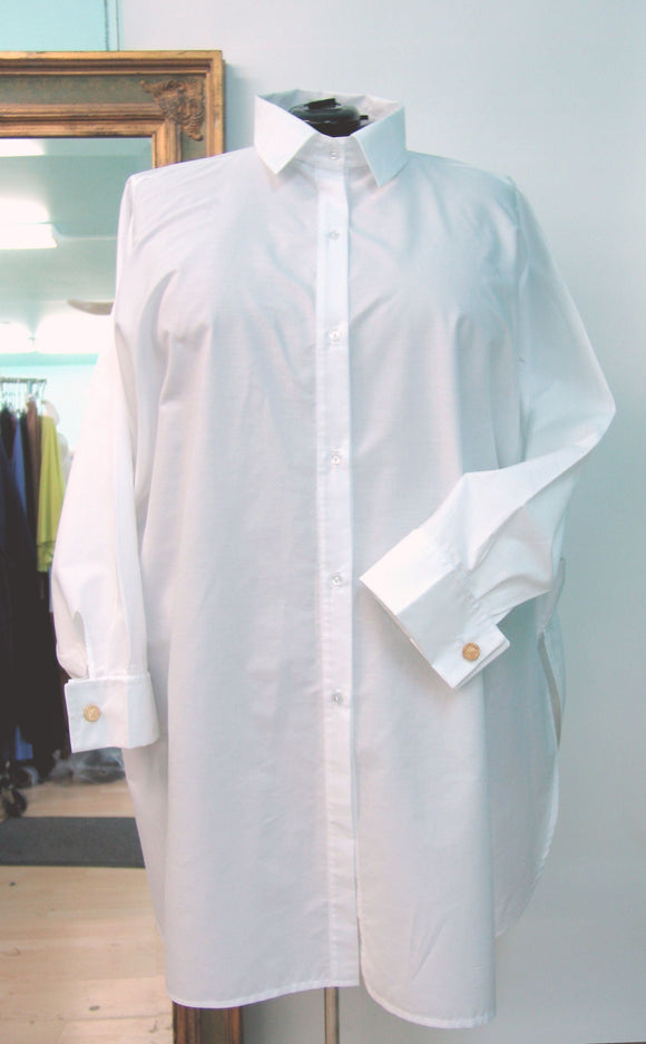 Extra Full Boyfriend Shirt with Shirt Collar, French Cuffs
