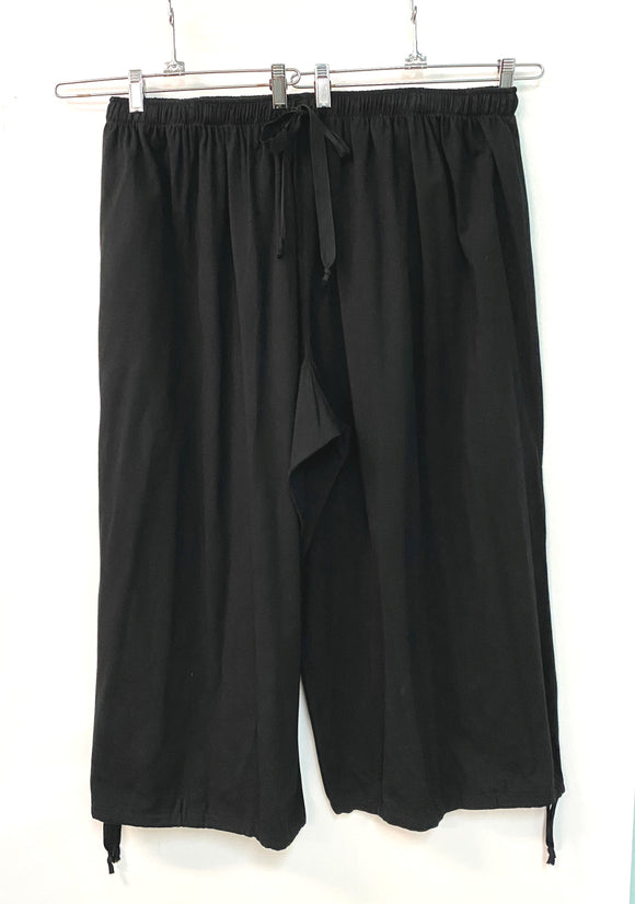 Anneka Crop Pants - Size Med - Cotton Spandex  Jersey