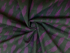 C27.1 - Ikat Cotton - black magenta ****