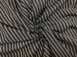 C26.2 - Woven Cotton - ebony and ivory stripe **