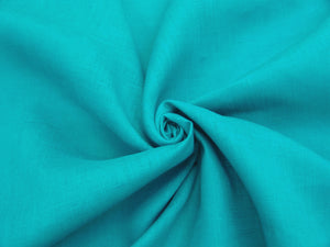 L1 - Linen - hanky weight - bright teal *****
