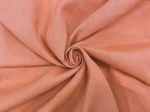 L1 - Linen - hanky weight - terracotta *****