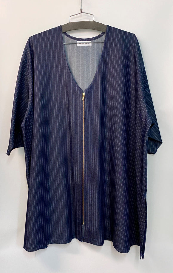 Sarah Shirt - 4x -  Pinstripe Denim**