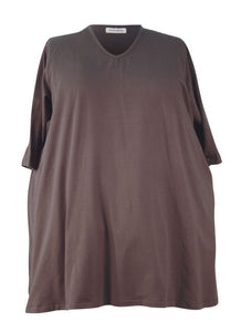 Narrow Shoulder A-line Big Tee - Cotton Jersey Knits