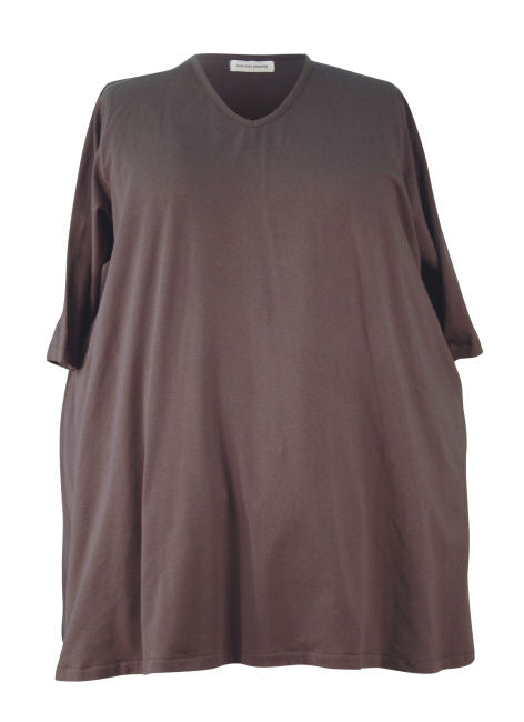 Narrow Shoulder A-line Big Tee - Cotton Spandex Jersey